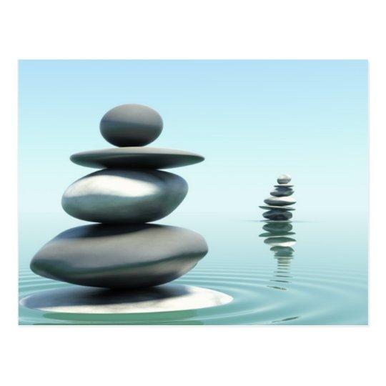Zen stones Midday postcard