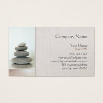 Zen Stones Natural Health Healer Wellness Business Card