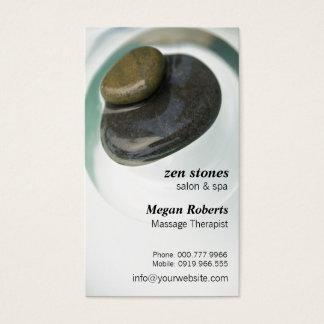 Zen Stones on Water Spa Skin Care Massage Salon Business Card