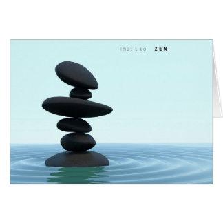 Zen Stones Rippling Shallow Water Card