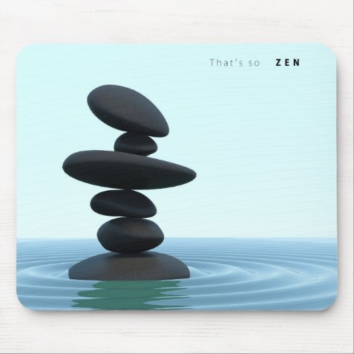 Zen Stones Rippling Shallow Water Mouse Pad