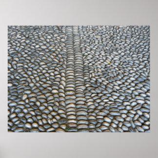 Zen stones road poster