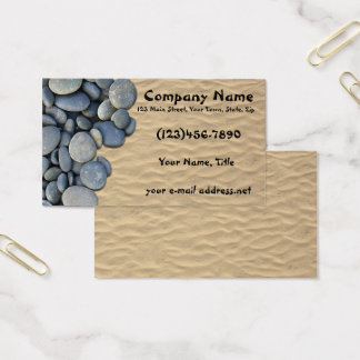 Zen Stones Sandy Beach Business Card