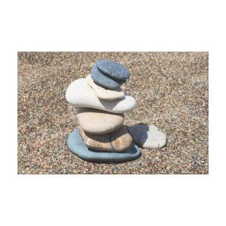 Zen stones stretched canvas prints
