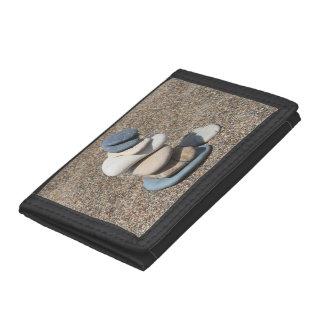 Zen stones tri-fold wallets