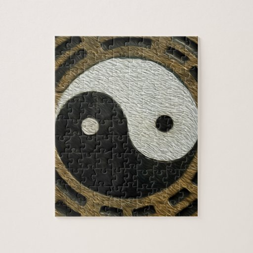 Zen Stones With Yin And Yang Puzzles