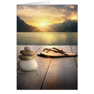 Zen Sunset Note Card