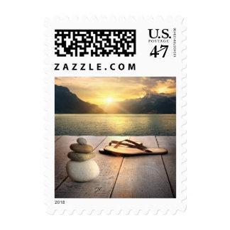 Zen Sunset Postage Stamp
