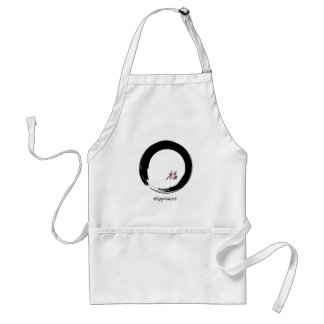 Zen Symbol with Happiness Character Aprons