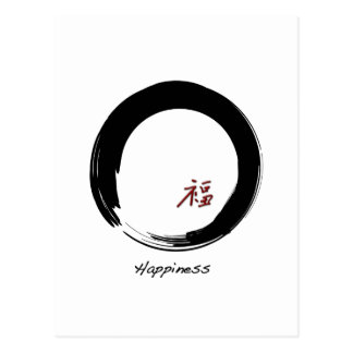 Zen Symbol with Happiness Character Postcard