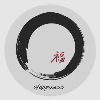 Zen Symbol with Happiness Character Stickers