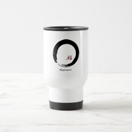Zen Symbol with Happiness Character Travel Mug