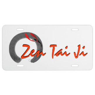Zen Tai Ji License Plate Cover