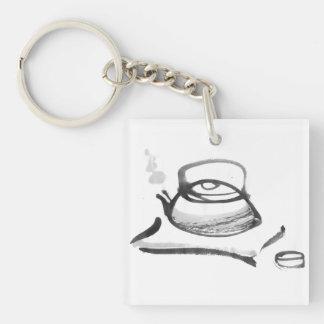 Zen Teapot Single-Sided Square Acrylic Keychain