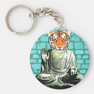Zen Tiger Keychain