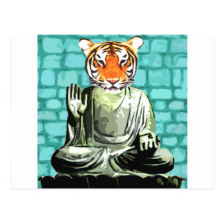 Zen Tiger Postcard