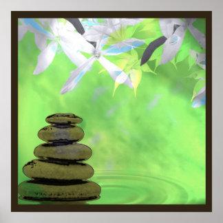Zen tranquil meditation square poster