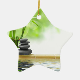 Zen tranquility water garden by healing love christmas tree ornament