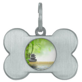 Zen tranquility water garden by healing love pet name tag