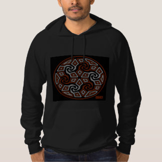 Zen Tri Arrows 2 (red and gray) Hoodie