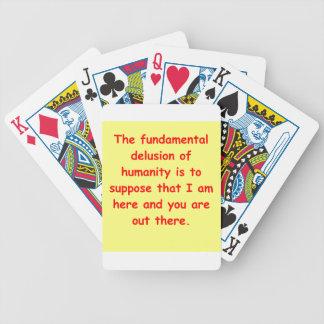 zen understanding bicycle playing cards