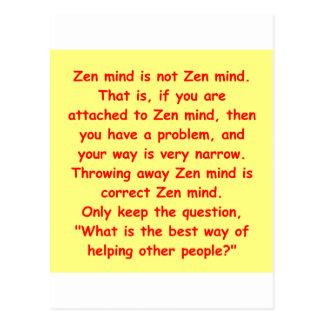 zen understanding postcard