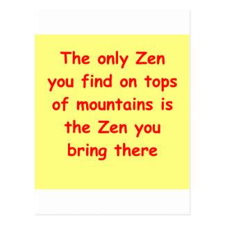 zen understanding post cards