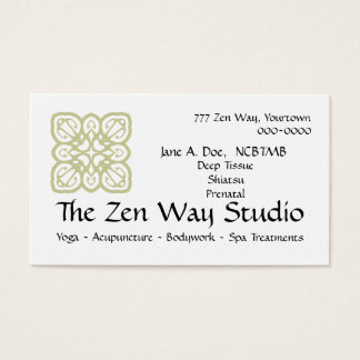 Zen Way Bodywork Card