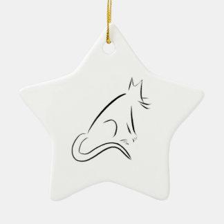Zen White Cat Christmas Tree Ornament