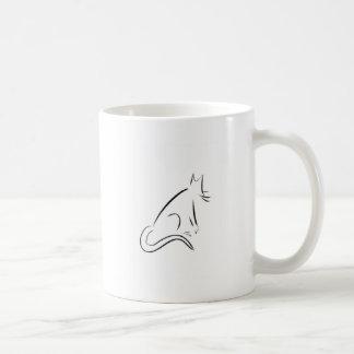 Zen White Cat Coffee Mug