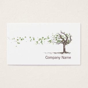 Tree business cards templates zazzle zen wind tree with leaves business card template colourmoves