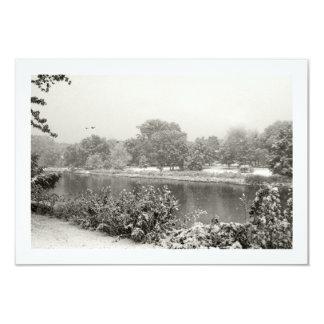 Zen Winter Snowfall I RSVP Card