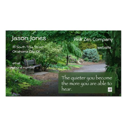 Zen Wisdom business card