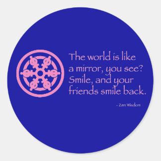 Zen Wisdom Classic Round Sticker