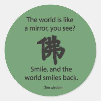 Zen Wisdom - We Get What We Give Classic Round Sticker