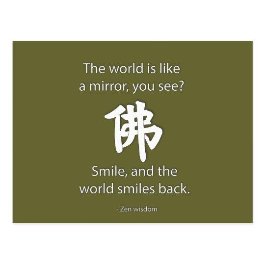 Zen Wisdom - We Get What We Give Postcard