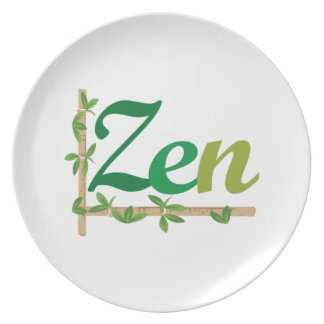 Zen with Bamboo Plate
