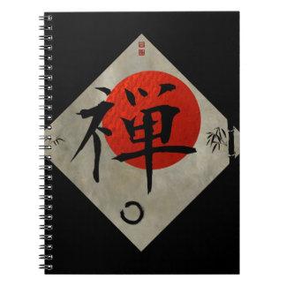 Zen with Ensō Circle #2 Spiral Notebook