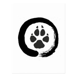 Zen wolf print postcard