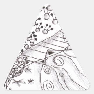 Zen World Triangle Sticker