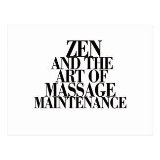 ZEN y el arte del MASAJE Tarjetas Postales
