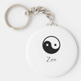 Zen Yin & Yang Basic Round Button Keychain