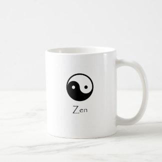 Zen Yin & Yang Classic White Coffee Mug