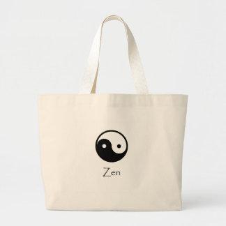 Zen Yin & Yang Large Tote Bag