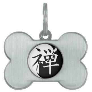 Zen Yin Yang Placas Mascota