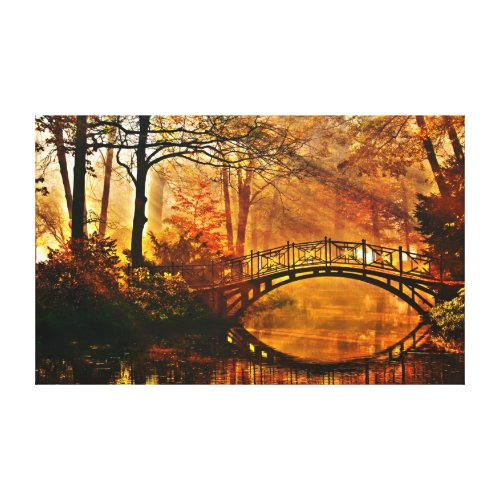Zen yoga bridge of peace by healinglove customize canvas print