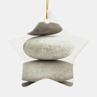 Zen yogo stones ceramic ornament