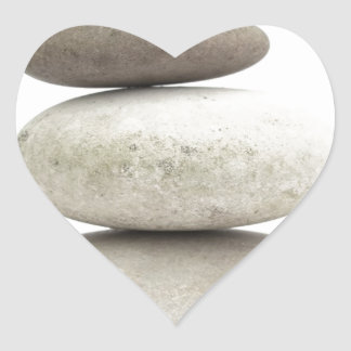 Zen yogo stones heart sticker