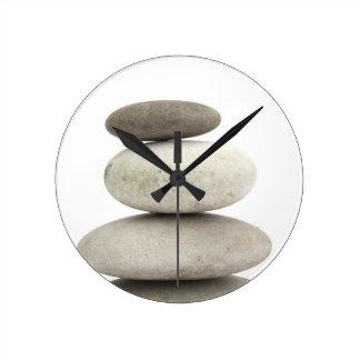 Zen yogo stones round clock