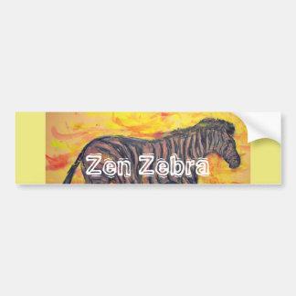 Zen Zebra Car Bumper Sticker
